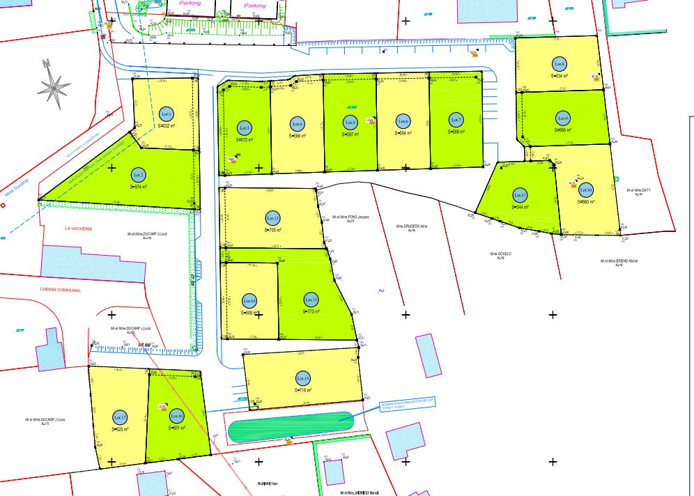 Plan  du lotissement Saint Roch